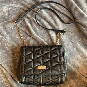 Kate Spade quilted Leather crossbody black bag